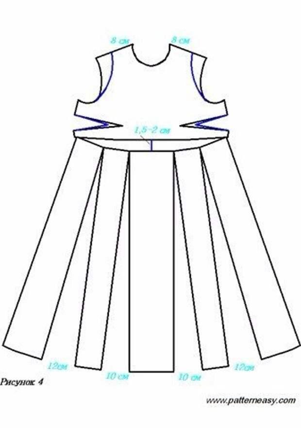 Потрясающее летнее платье вы можете сшить за пару часов