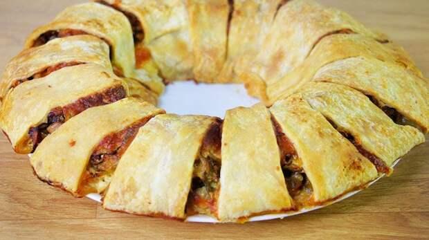 Закусочный пирог Ромашка