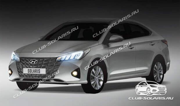 Обновленный Hyundai Solaris: первое изображение