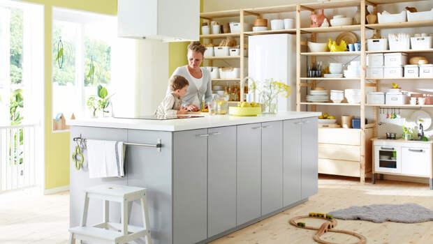 Стандартный стол IKEA в кухонный остров меньше чем за час