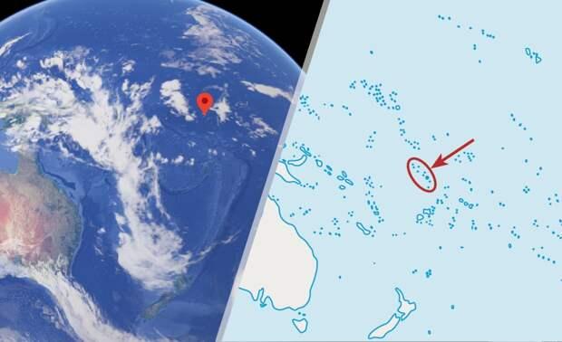 Тувалу на карте мира