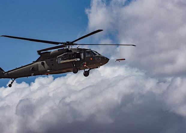 Американцы запустили разведывательный беспилотник с многоцелевого вертолета