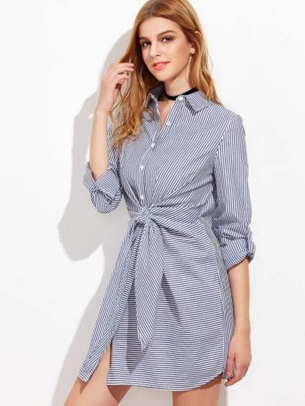 Блузки с узлом (идеи)