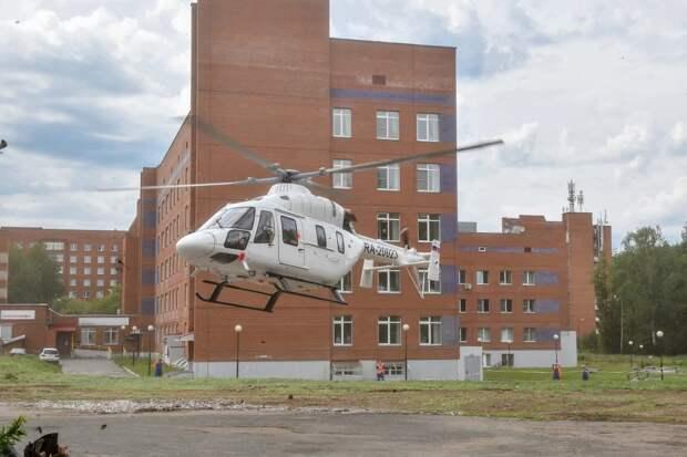 Врачи оценили состояние первого в Удмуртии пациента, эвакуированного вертолетом