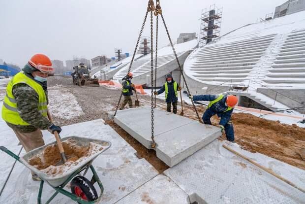 Футбольное поле на стадионе «Москвич» будет с подогревом