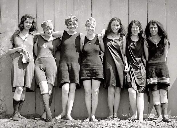 Пляжная мода 20-30-х годов XX века.
