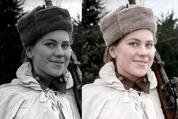 До и после: фото героев Великой Отечественной теперь в цвете