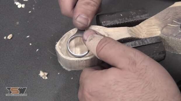 Изготовление резца по дереву из гаечного ключа