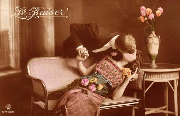 Французские открытки, в которых показано, как романтично целовались в 1920-е годы 18