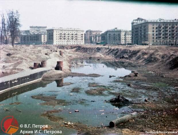 Ретро-фото: Новопесчаная улица в конце 50-х