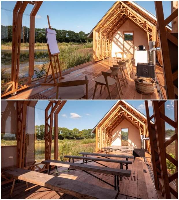 Динамичный домик, который может подстраиваться под настроение хозяина и погоду