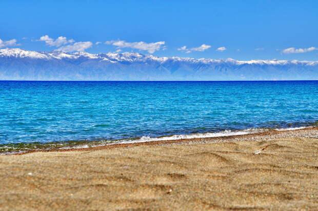 Вид на Иссык-Куль с южного берега