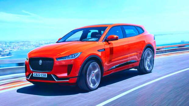 Новый электрический внедорожник Jaguar J-Pace, который может посоревноваться с Tesla Model X