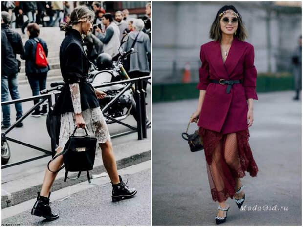 Стильные сочетания юбки и пиджака 2018-2019
