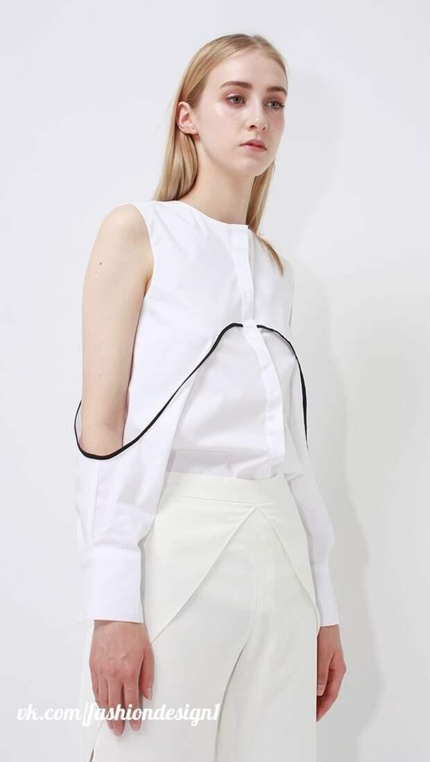 Блузы с открытыми плечиками