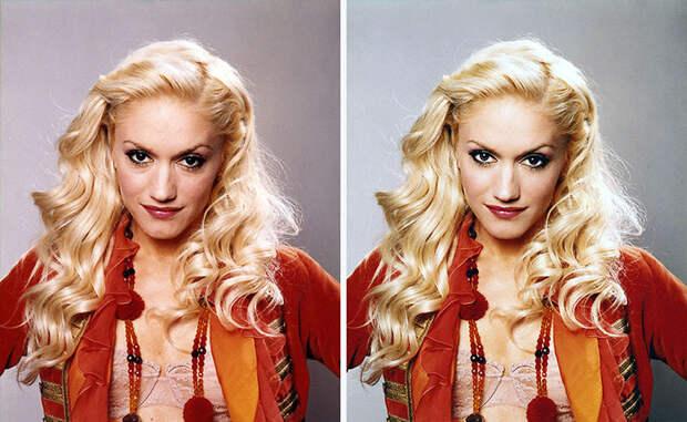 Фотографии звёзд до и после фотошопа
