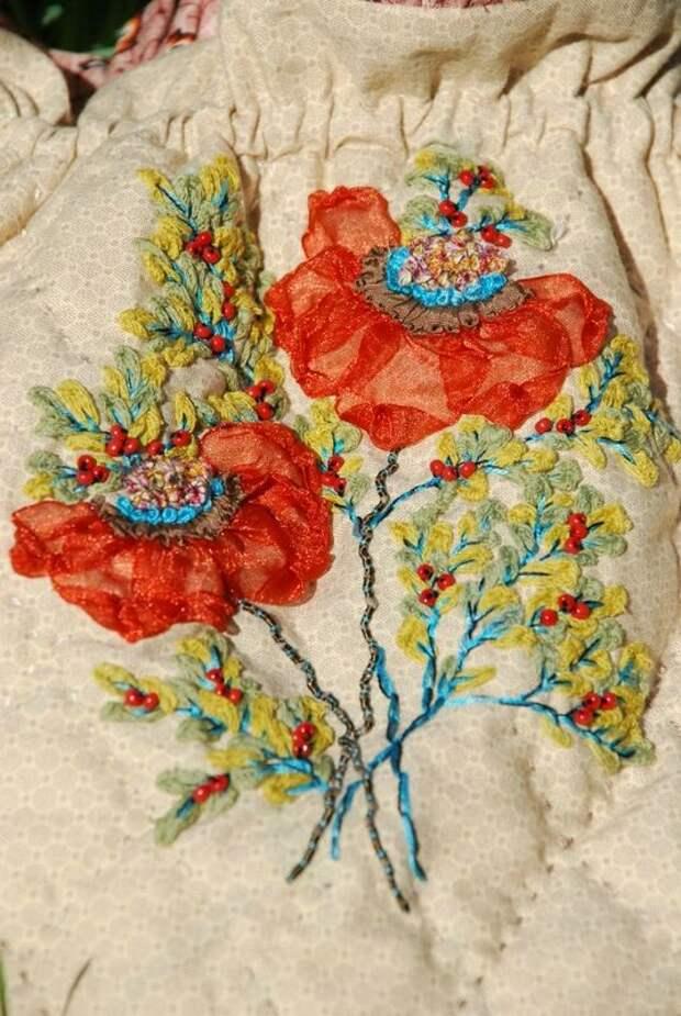 Вышивка цветов: изумительные идеи 2