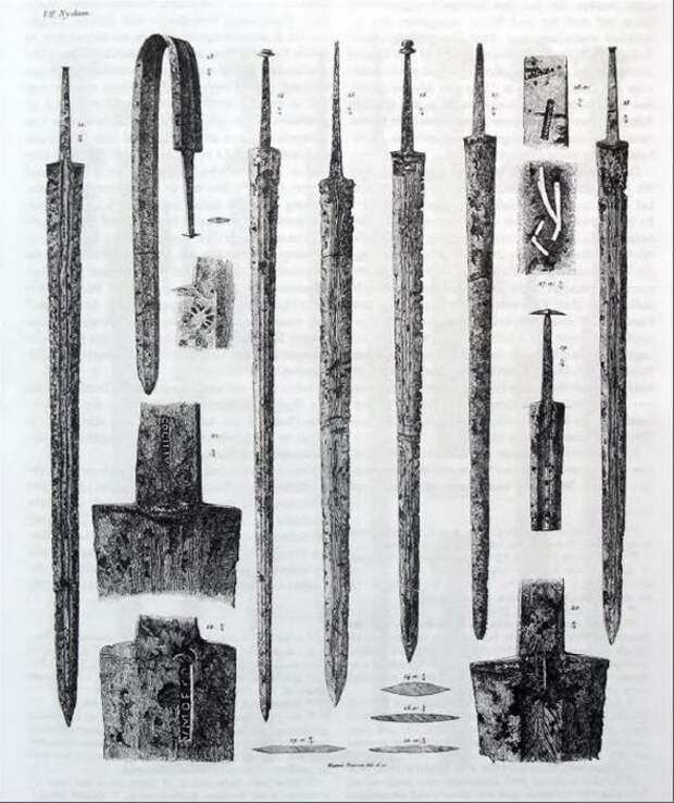 Мечи из Нидама. 260–280 годы - Скандинавские клады: римские мечи   Warspot.ru