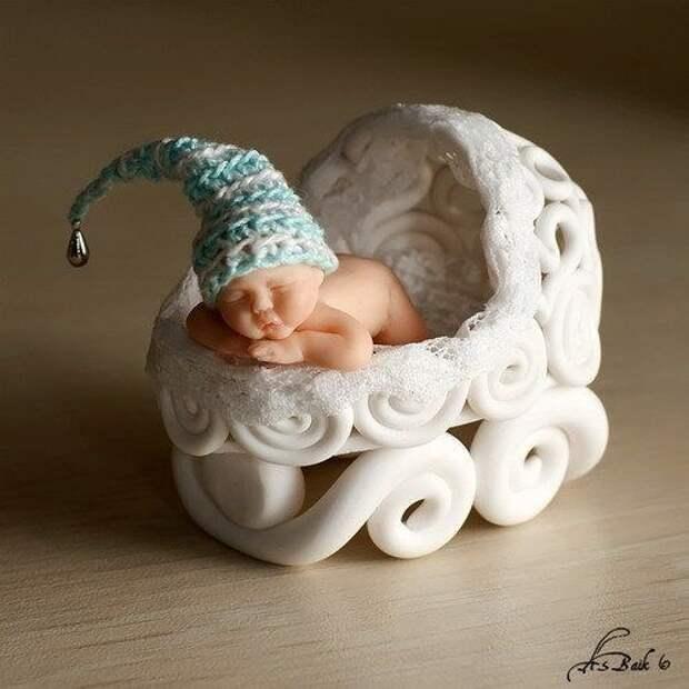 Лепим младенца из полимерной глины. Мастер-класс
