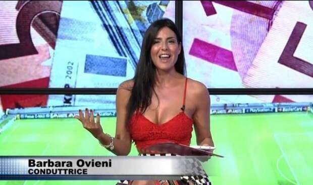 Итальянка с ошеломительной фигурой ведет футбол с огромными рейтингами
