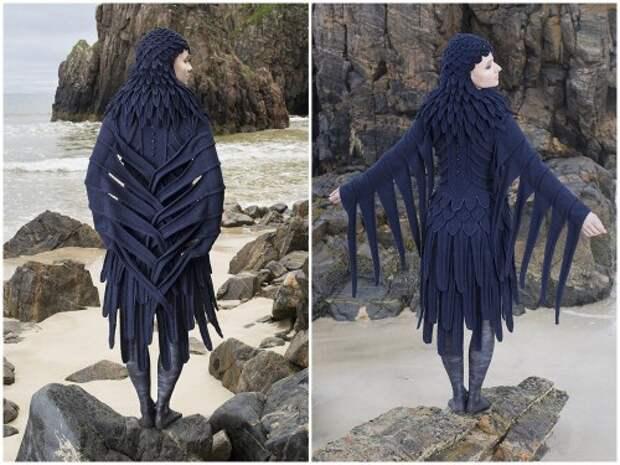 Вязаный костюм совы
