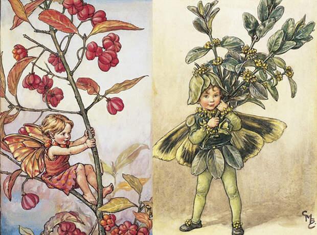 Рисунки Сесиль Баркер.