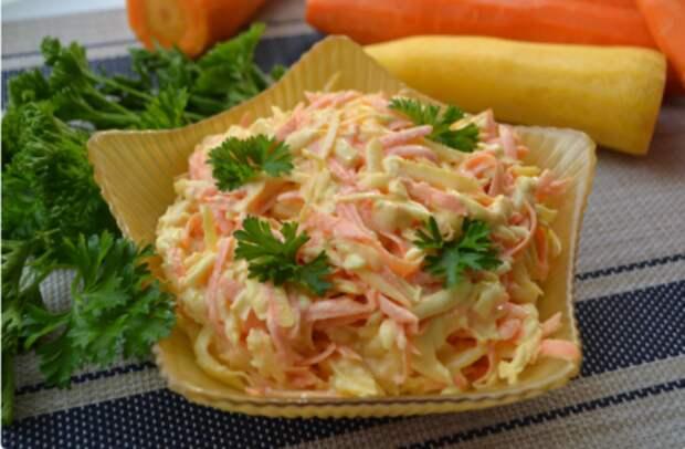 Салат, который раньше готовили и на праздничный стол, а сейчас почему-то про него забыли. А он очень вкусный!