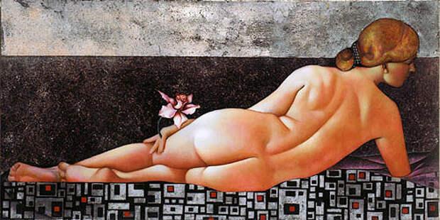 Красота женского тела итонкие материи вкартинах Агиты Кейри