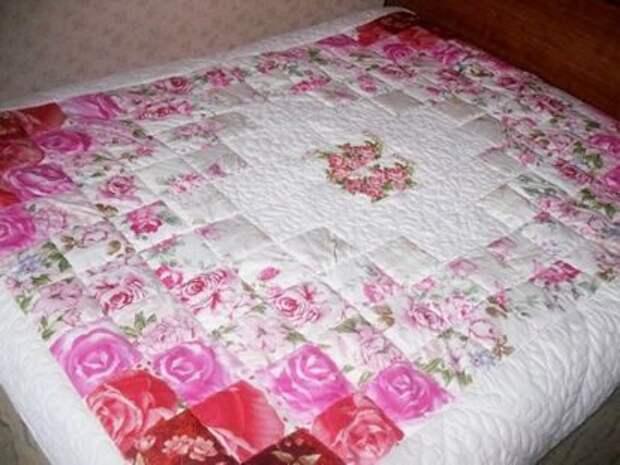 Одеяло в стиле пэчворк