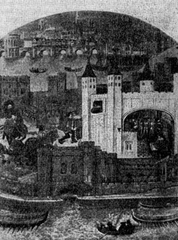Лондонски Тауэр. Миниатюра. XV в.