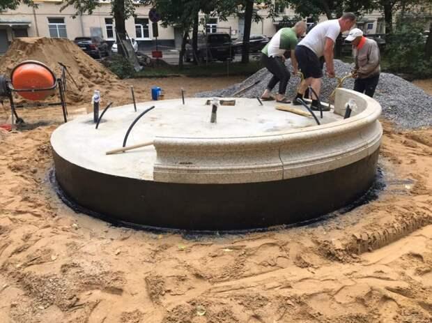 Необычный фонтан забьет во дворе на проспекте Мира