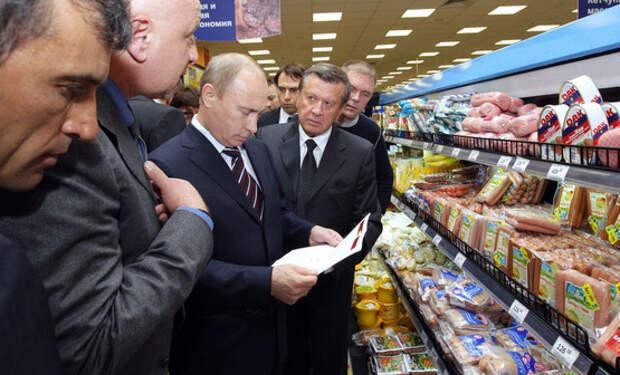 Цены в магазинах не верят Путину