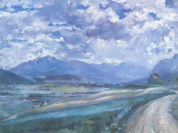 Lovis Corinth. Inntal-Landschaft. 1910. oil on canvas. Alte Nationalgalerie