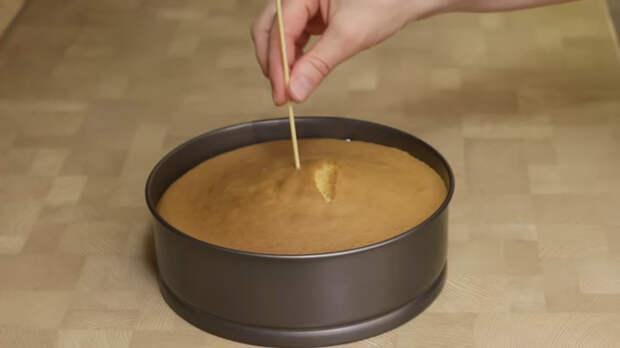 Рецепт бисквита с карамельным вкусом Бисквит, Видео, Длиннопост, Рецепт, Кулинария