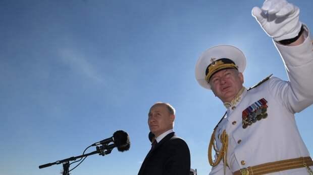 Путин поздравил личный состав экипажей боевых кораблей в Кронштадте с Днем ВМФ