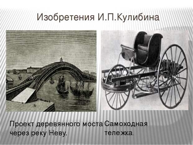 Изобретения Ивана Кулибина, которые стыдно не знать