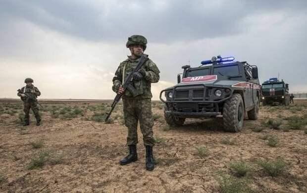 Российские военные ожидают прибытия турецких коллег. 1 ноября 2019 г.