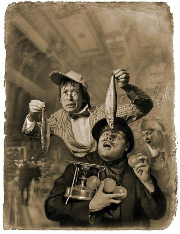 Толстяк взял свой примус под мышку... «Мастер и Маргарита». Фотоиллюстрации Елены Мартынюк.