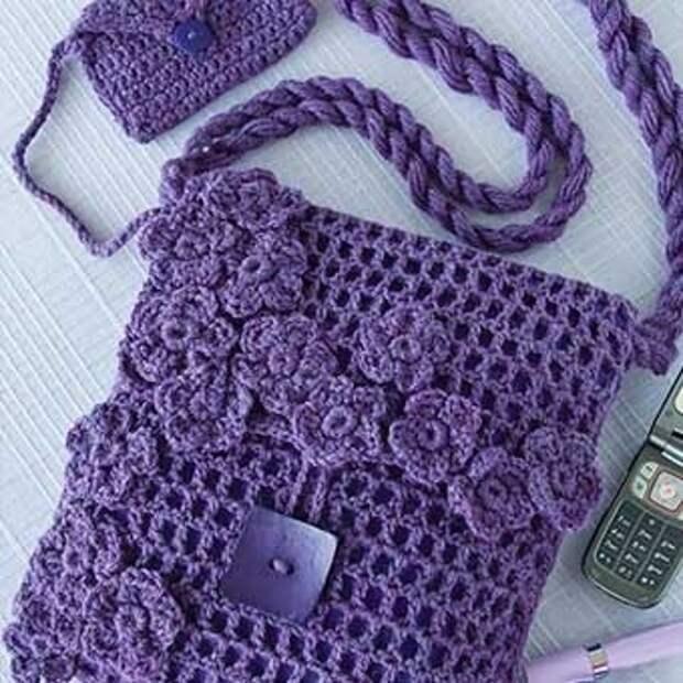 Вязаные сумки своими руками