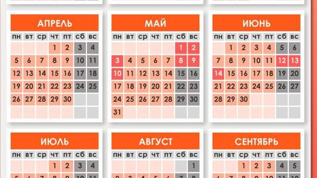 Роструд напомнил россиянам график отдыха на майские праздники