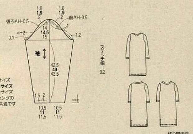 2 японские выкройки - кардиган и блузка