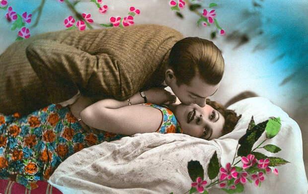 Французские открытки, в которых показано, как романтично целовались в 1920-е годы 19