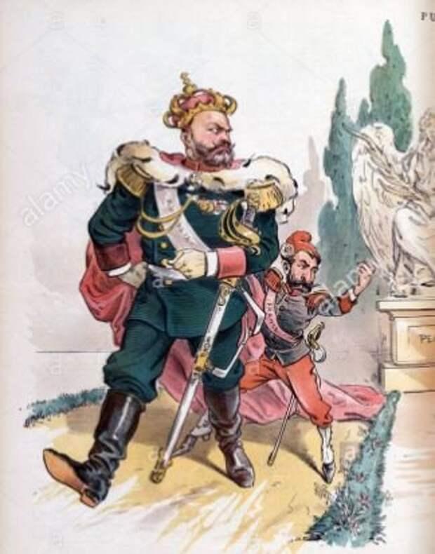 Фрагмент английской карикатуры на Александра III