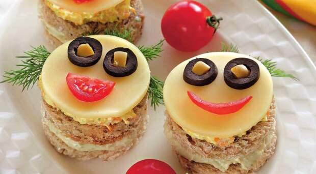 Бутерброды-рожицы для детей