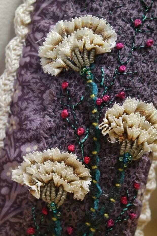 Вышивка цветов: изумительные идеи 0