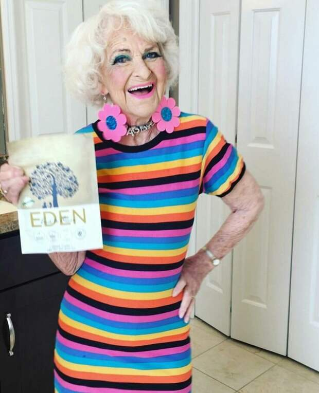 Модная старушка Baddie Winkle. А вы смогли бы представить себя в таких образах
