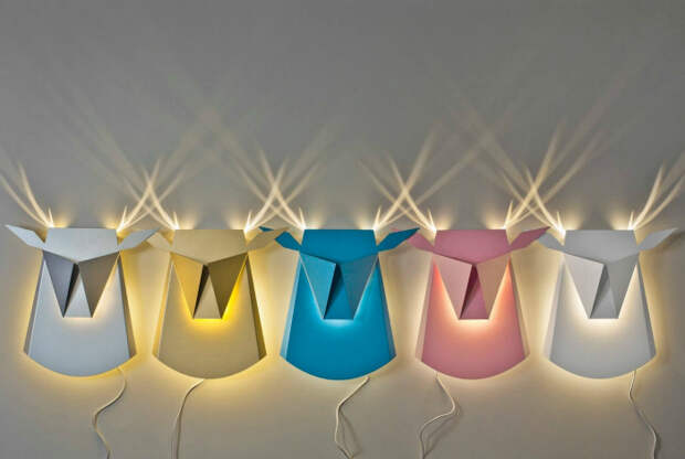Светильники в стиле оригами. | Фото: Sabedenada.