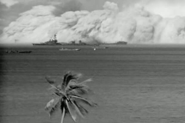 Атомная бомба создала цунами: видео испытаний