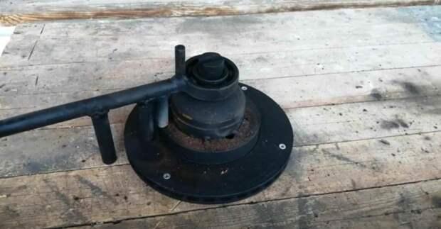 Самодельный гибочный станок с основанием из тормозного диска