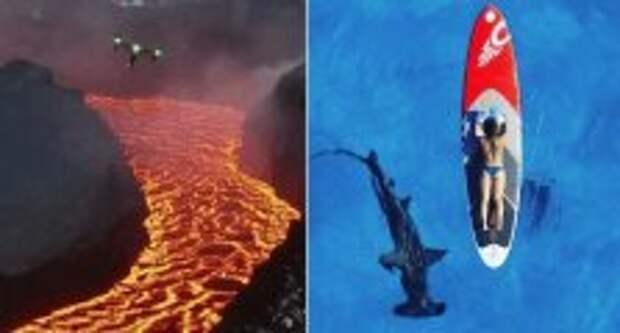 Фотография: Завораживающие и и пугающие кадры, снятые в разных уголках Земли с дронов